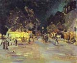 paris at night 1911 the kustodiev picture gallery astrakhan russia
