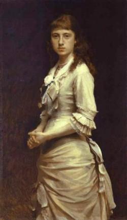 Kramskoi Portrait of Sophia Kramskaya the Artist s Daughter