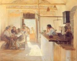 Kroyer Peder Severin Taberna en Ravello 1890