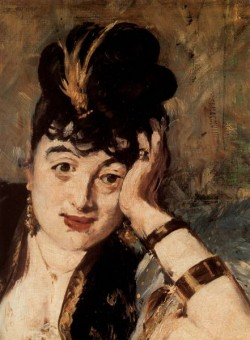 Manet Woman with Fans detail