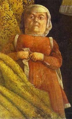 the gonzaga family and retinue detail 4 1465 74 XX mantua italy