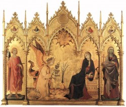 SIMONE MARTINI The Annunciation And Two Saints