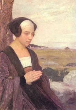 breton girl praying