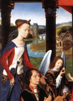 The Donne Triptych c1475 detail3 central panel