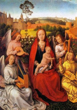 Virgin and Child with Musician Angels 1480