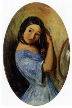 Millais Sir John Everett A Young Girl Combing Her Hair