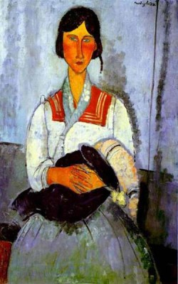 gypsy woman with child 1919 XX the national gallery of art washington dc usa