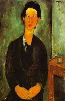 portrait of chaim soutine seated at a table 1917 XX the national gallery of art washington dc usa