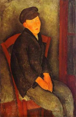 seated boy with cap 1918 XX private collection