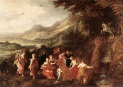Helicon Or Minervas Visit To The Muses