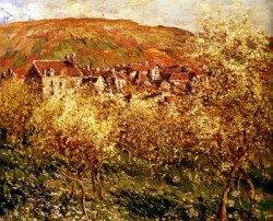 Monet Apple Trees In Blossom