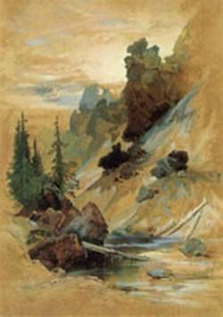 the devils den on cascade creek 1872 XX gilcrease museum tulsa oklahoma