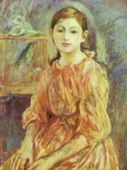 the artists daughter with a parakeet 1890 XX the national gallery of art washington dc usa