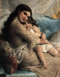 munier 1885 02 portrait of a mother and daughter
