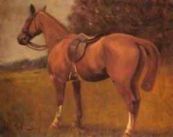 Saddled Hunter In A Landscape
