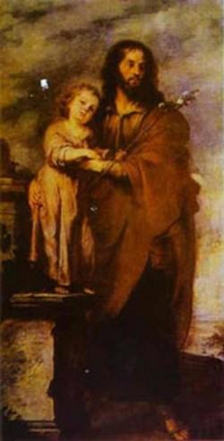 joseph with infant christ 1665 1666 XX museum of fine arts sevilla spain