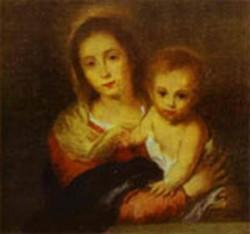 madonna with a napkin 1665 1666 XX museum of fine arts sevilla spain