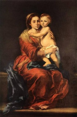 Murillo Virgin and Child with a Rosary