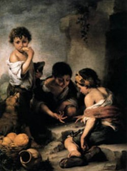 MURILLO Young Boys Playing Dice