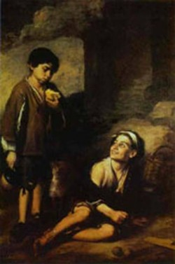 two peasant boys 1668 1670 XX dulwich picture gallery london uk