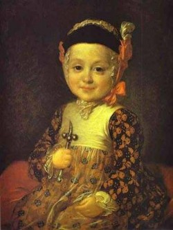 portrait of count alexey bobrinsky as a child 1760s XX st petersburg russia