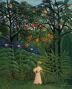 Woman Walking in an Exotic Forest 1908