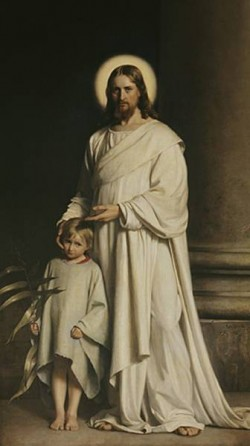 Carl Heinrich Bloch Christ and Boy