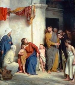 Carl Heinrich Bloch Christ with Children