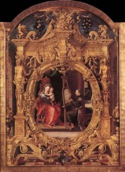 St Luke Painting The Virgins Portrait