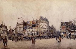The Moulin Rouge and the Rue Lepic as Seen from the Place Blanche