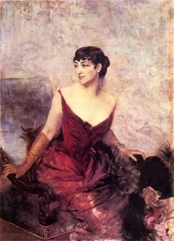 Countess de Rasty Seated in an Armchair
