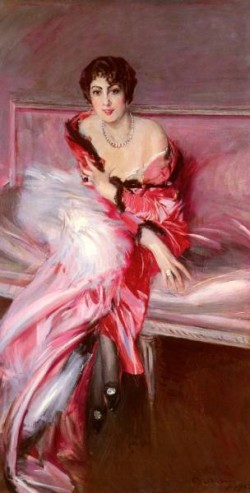 Portrait Of Madame Juillard In Red
