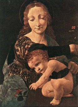 Virgin and Child with a Flower Vase