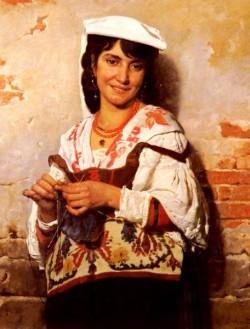 Joseph Florentin Jeune Fille Italienne