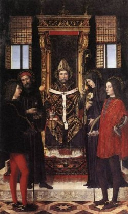 St Ambrose With Saints
