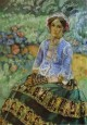 woman in blue 1901 1903 XX the picture gallery of armenia erevan armenia