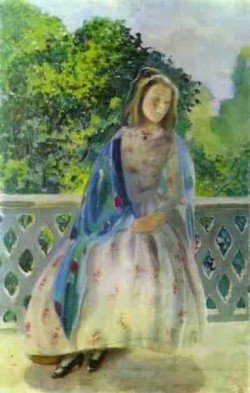young girl on the balcony 1900 XX the a n radishchev museum of arts saratov russia