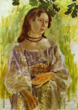 young girl with a necklace study 1904 XX private collection