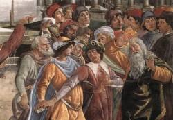 Botticelli The Punishment of Korah detail 5