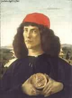 portrait of an unknown personage with the medal of cosimo il vecchio 1474 XX galleria degli uffizi florence