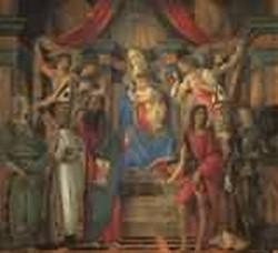 san barnaba altarpiece madonna enthroned with saints 1490 XX galleria degli uffizi florence