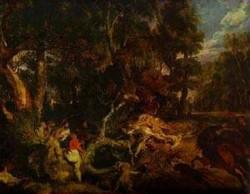 a boar hunt 1618 1620 XX dresden germany
