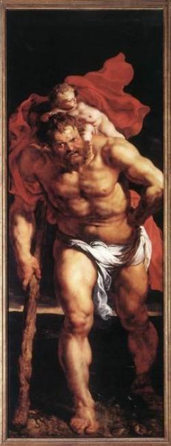 Rubens Descent from the Cross detail outside left