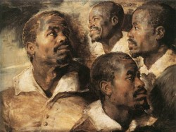 Rubens Four Studies of the Head of a Negro