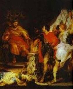 peter paul rubens and anthony van dyck mucius scaevola before porsenna 1620 XX budapest hungary