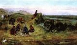 The Piegans Preparing to Steal Horses from the Crows 1888