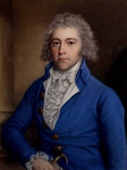 Portrait Of A Gentleman Half Length In A Blue Coat