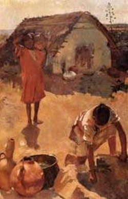 Figures near a Well in Morocco 1882 1883