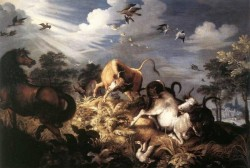 SAVERY Roelandt Horses And Oxen Attacked By Wolves