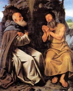 st anthony abbot and st paul 1510 XX gallerie dell accademia venice